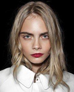 bold lips no mascara look, strong brows, makeup
