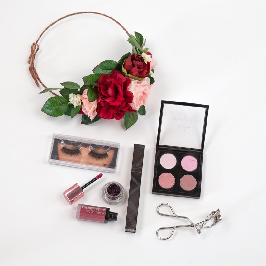 Makeup products for Sweet Valentine look