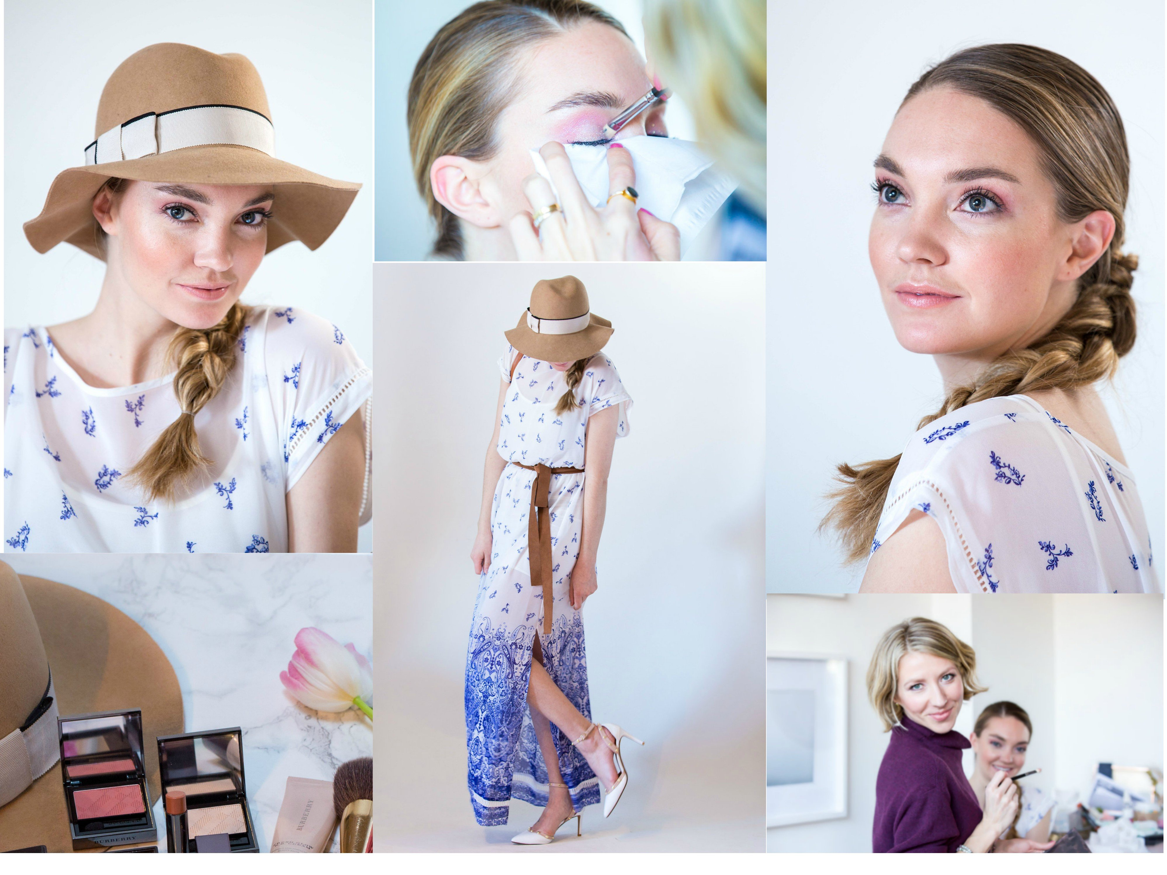 Effortless Bronzed makeup look for a casual weekend brunch with girlfriends created by Klava Z Ottawa makeup artist focused on bronzed glow, soft pink eyeshadows and nude lips.