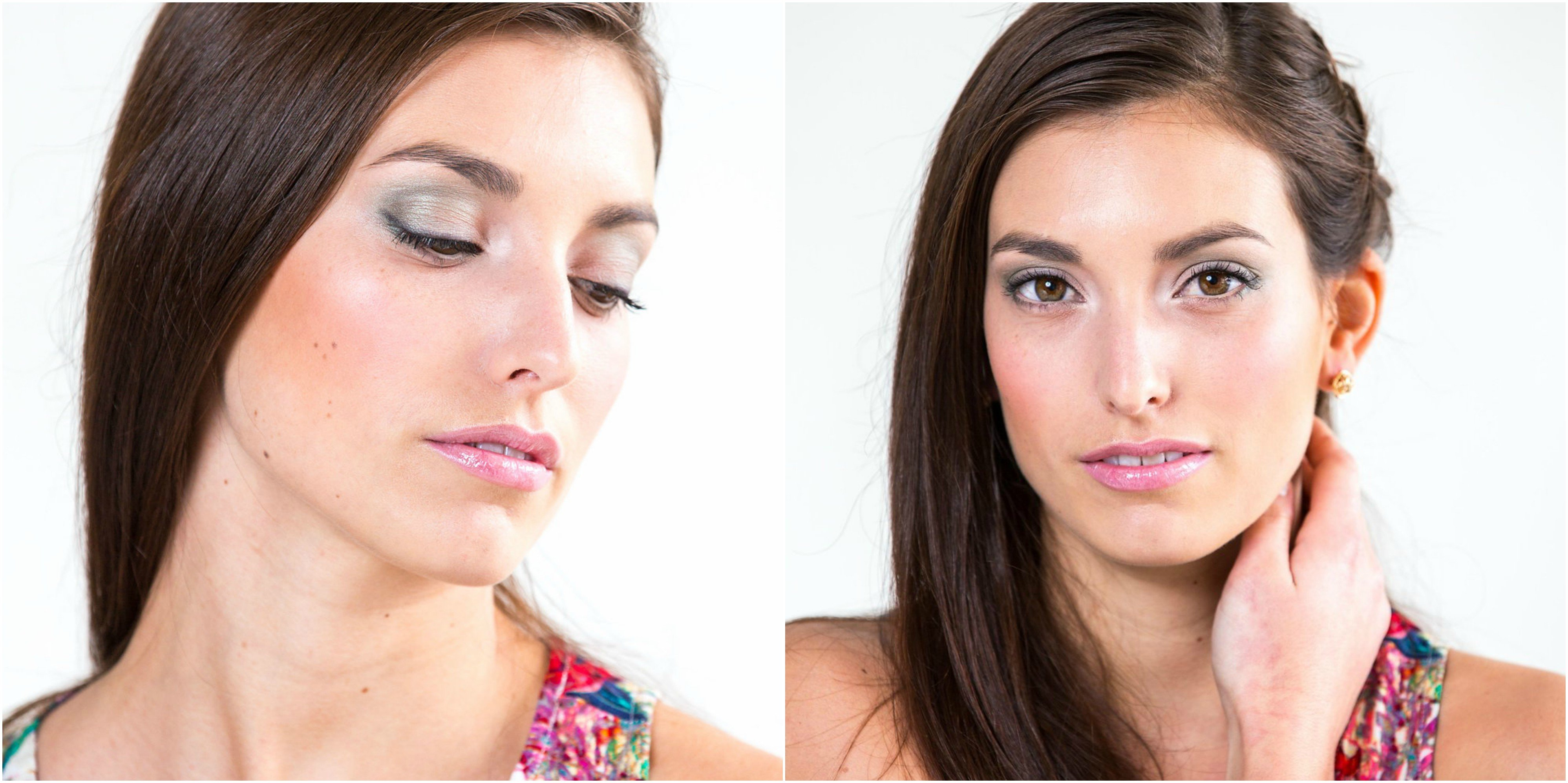 Ottawa makeup artist Klava Z created a clean and fresh pretty pink pastel makeup look with pink lips and pistachio eyeshadows inspired by spring beauty trends.