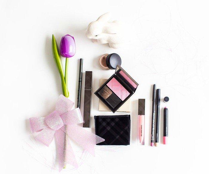 To create Pink Pastel Makeup Look Klava Z Ottawa Makeup Artist used Burberry and MAC cosmetics