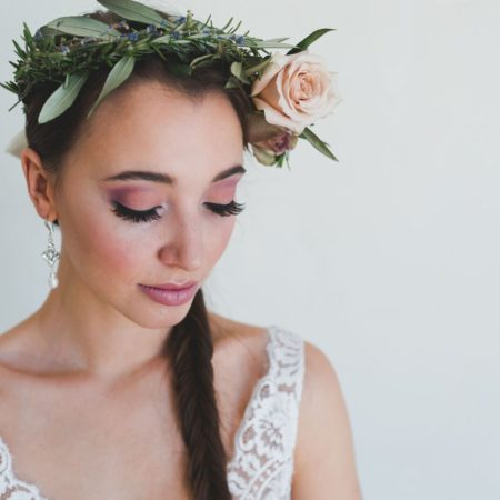 Romantic bridal makeup by Klava Z Ottawa wedding Makeup artist