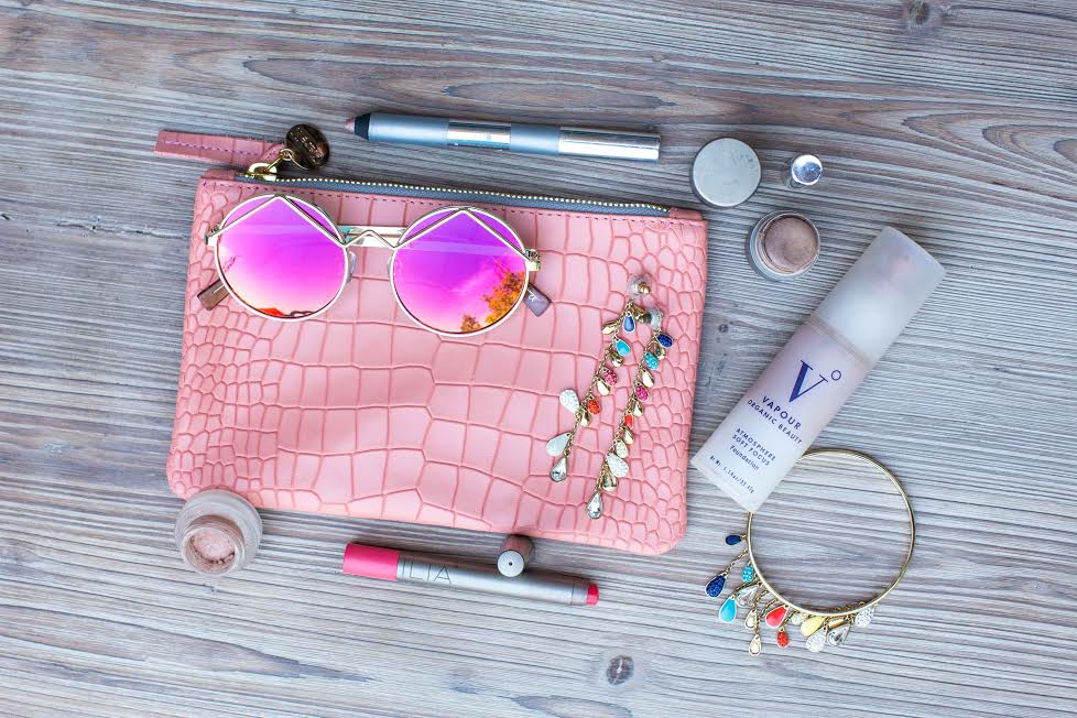 Non-toxic makeup products used in creating the Pool Party Makeup Look