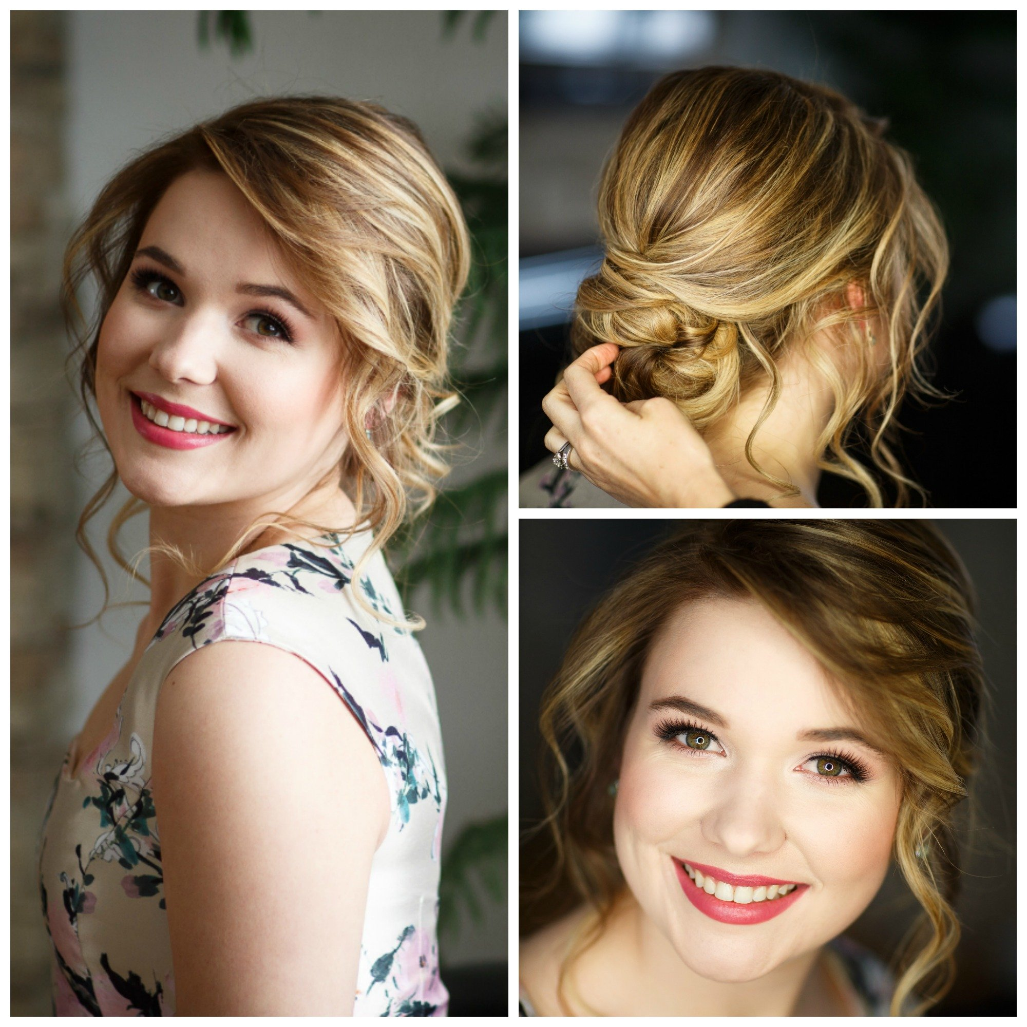 bright prom makeup and hair by Ottawa best makeup artist Klava Z and talented hairstylist Topknot Hairstyling