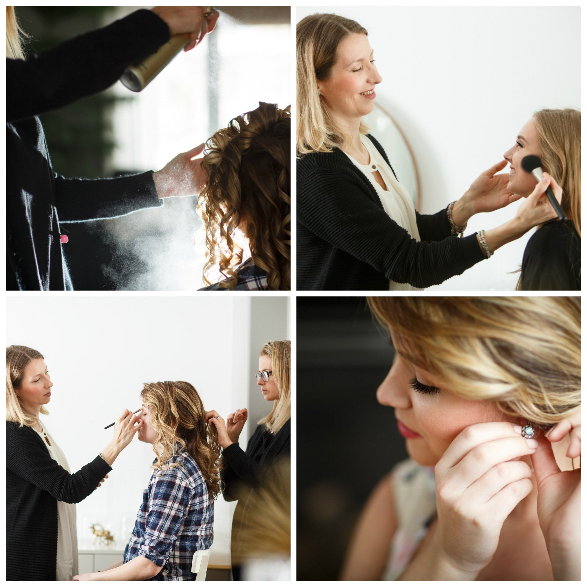 Prom makeup and hair by Ottawa best makeup artist Klava Z and talented hairstylist Topknot Hairstyling