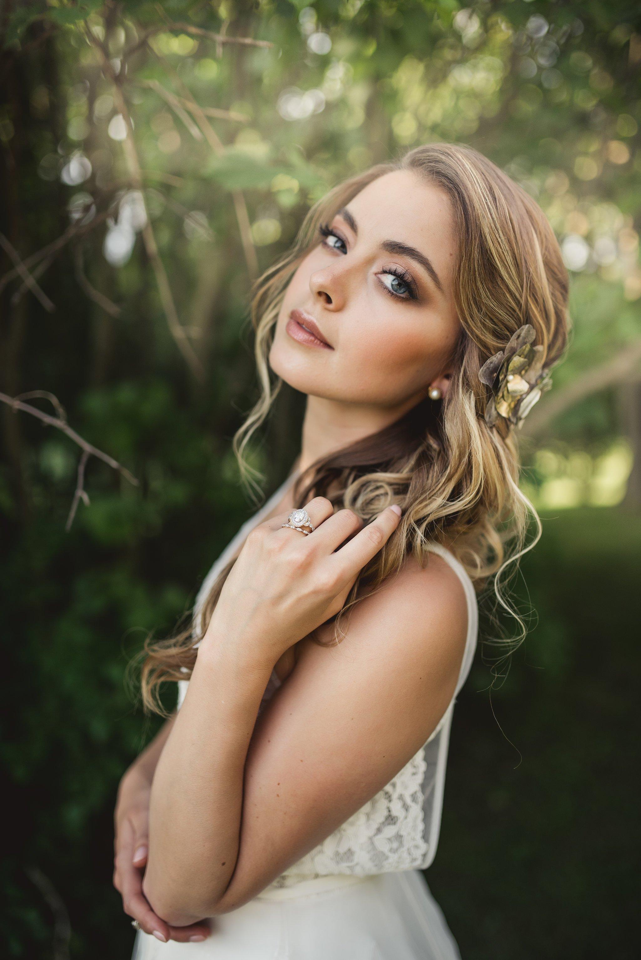 beautiful bridal makeup brown smokey eyes by Ottawa's wedding makeup artist Klava Z