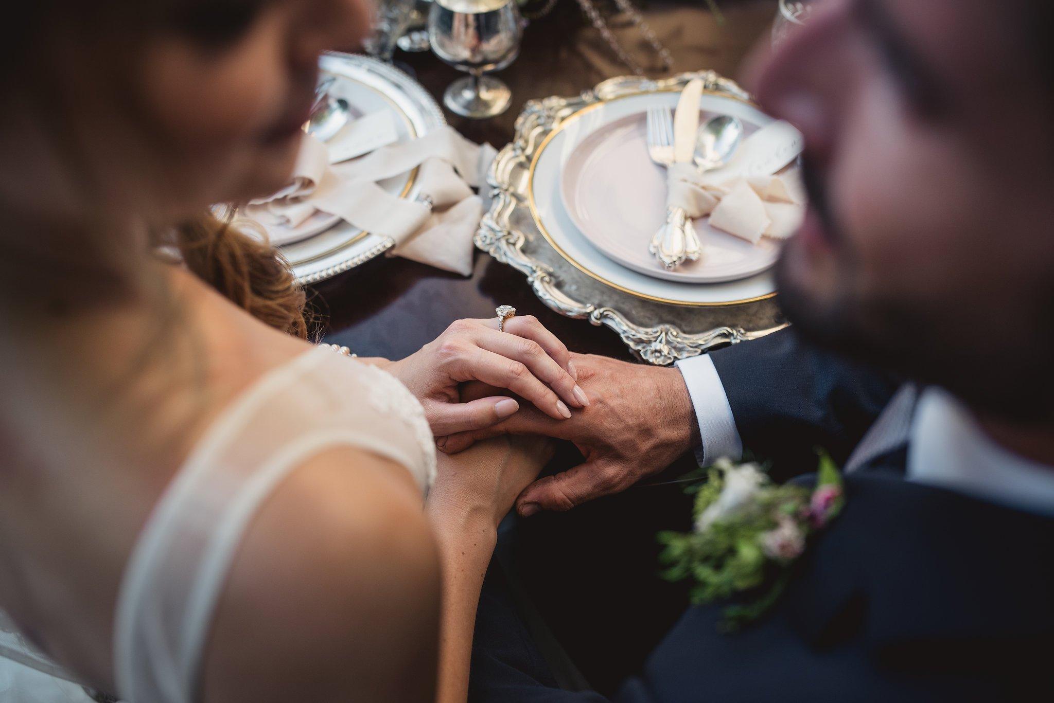 vintage wedding table set up