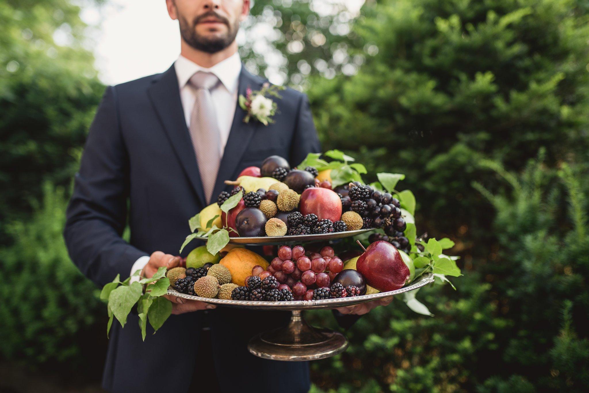 wedding fruit plate