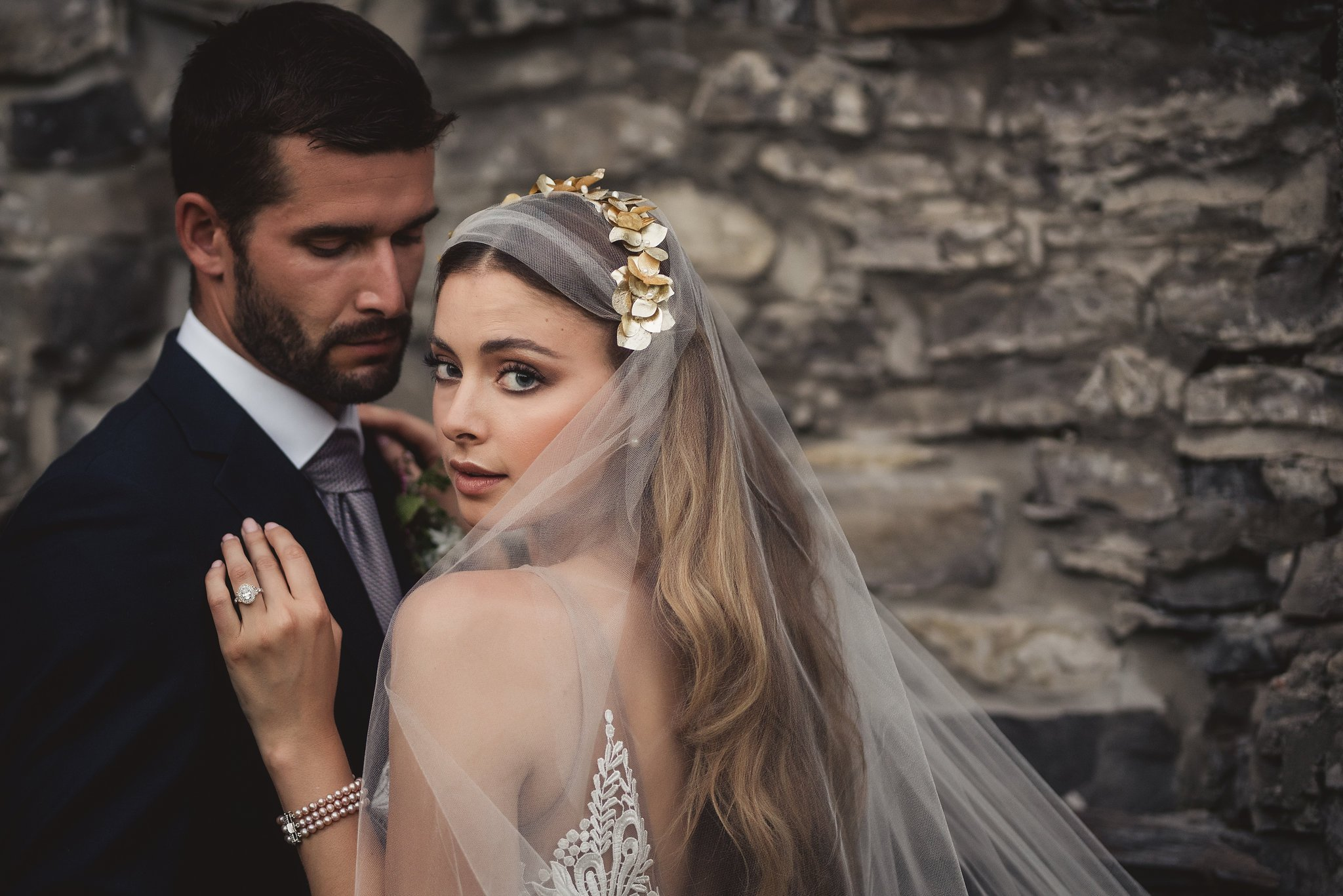beautiful bridal makeup with smokey brown eyes by Ottawa's wedding makeup artist Klava Z
